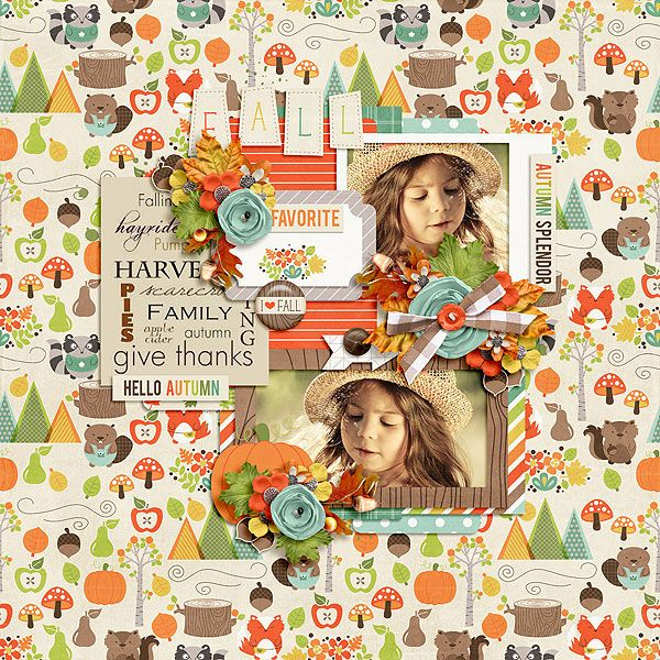 Autumn Woodland Bundle by Jady Day Studio http://www.sweetshoppedesigns.com/sweetshoppe/product.php?productid=29016&cat=0 &page=1 Our Greatest Adventures 4 by Two Tiny Turtles http://www.gottapixel.net/store/product.php?productid=10012216&cat=0&page=1 Photo by Rock n' Raul Photography – used with permission https://www.facebook.com/RockNRaulPhotos