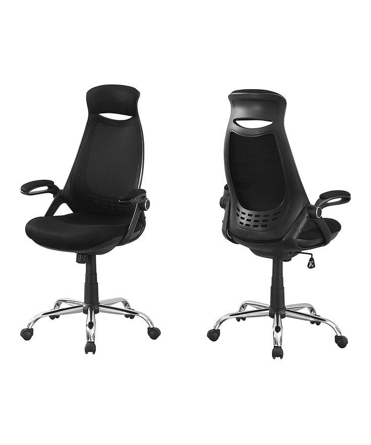 Black Mesh & Chrome Executive Office Chair