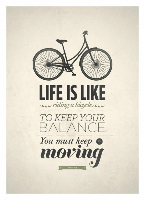 Life is like riding a bicycle by Poh Koon