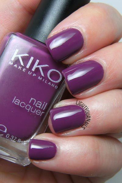 Smalto Kiko 316 Viola Rosso nail polish @kikocosmetics