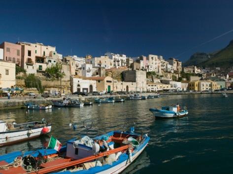Town View from Port, Castellamare del Golfo, Scopello, Sicily, Italy