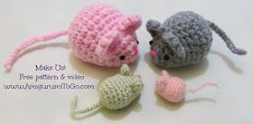 Amigurumi To Go: Amigurumi Mouse Free Pattern and Video