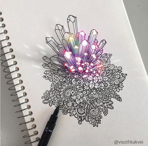 Эти 2D Рисунки Загипнотизируют Тебя #2D-искусство #2D #гипноз