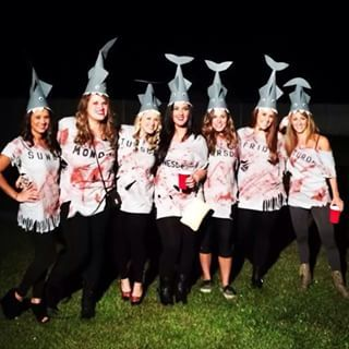 Shark Week | 32 Ridiculously Clever Group Halloween Costumes