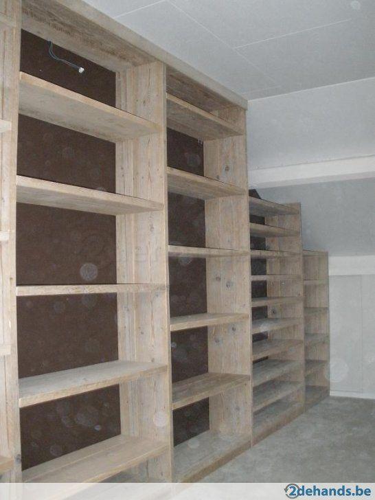 Steigerhout inbouw wand voor boeken en cd's of wasmachine - Te koop ...
