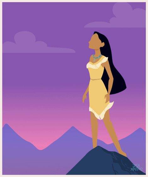 """Colors of the Wind"" Pocahontas - Pocahontas  by Illustrator and Graphic Designer Jeca Martinez #5"