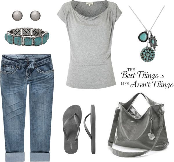 """Gray Casual"" by leisa-708 ❤ liked on Polyvore"