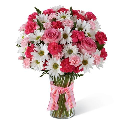 White daisies and cheap flowers delivered today by send flowers com