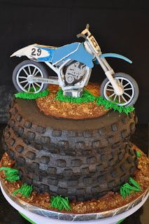 I would love to make this for my husband's birthday! Gracie Cakes: Motocross Cake