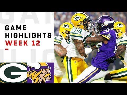 adac3242512 Packers vs. Vikings Week 12 Highlights | NFL 2018 - YouTube | Games ...