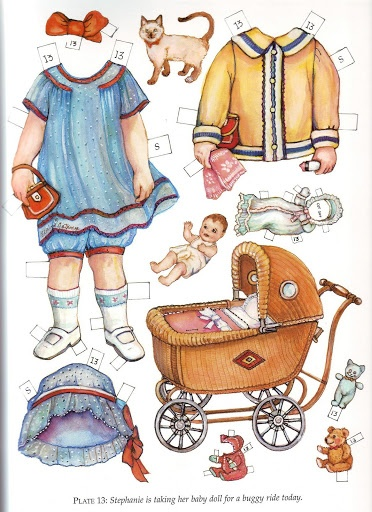Twin Tots of the Twenties Paper Dolls by Evelyn Gathings  - Dover Publishing Inc., 2000: Plate 13 (of 16)
