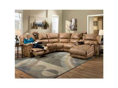 Franklin Furniture   Presley Sectional Sofa In Almond