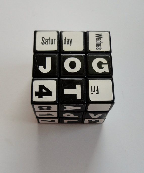 Perpetual Calendar Cube : Best cubes for days images on pinterest rubik