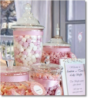 Pink and white elegant lollies