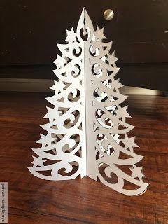 simplejoys paper cutout christmas tree
