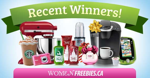WomenFreebies.ca Recent Winners