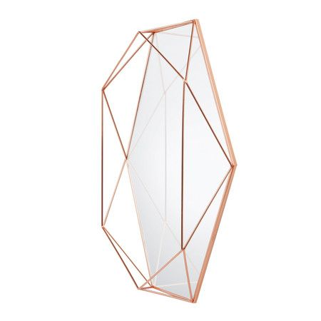 Make a striking addition to your interior with the Prisma mirror from Umbra. Constructed by creating offset wires in front of the glass, this mirror is both functional and decorative, as the wires can