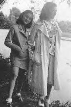Anne and Margot Frank in Switzerland.