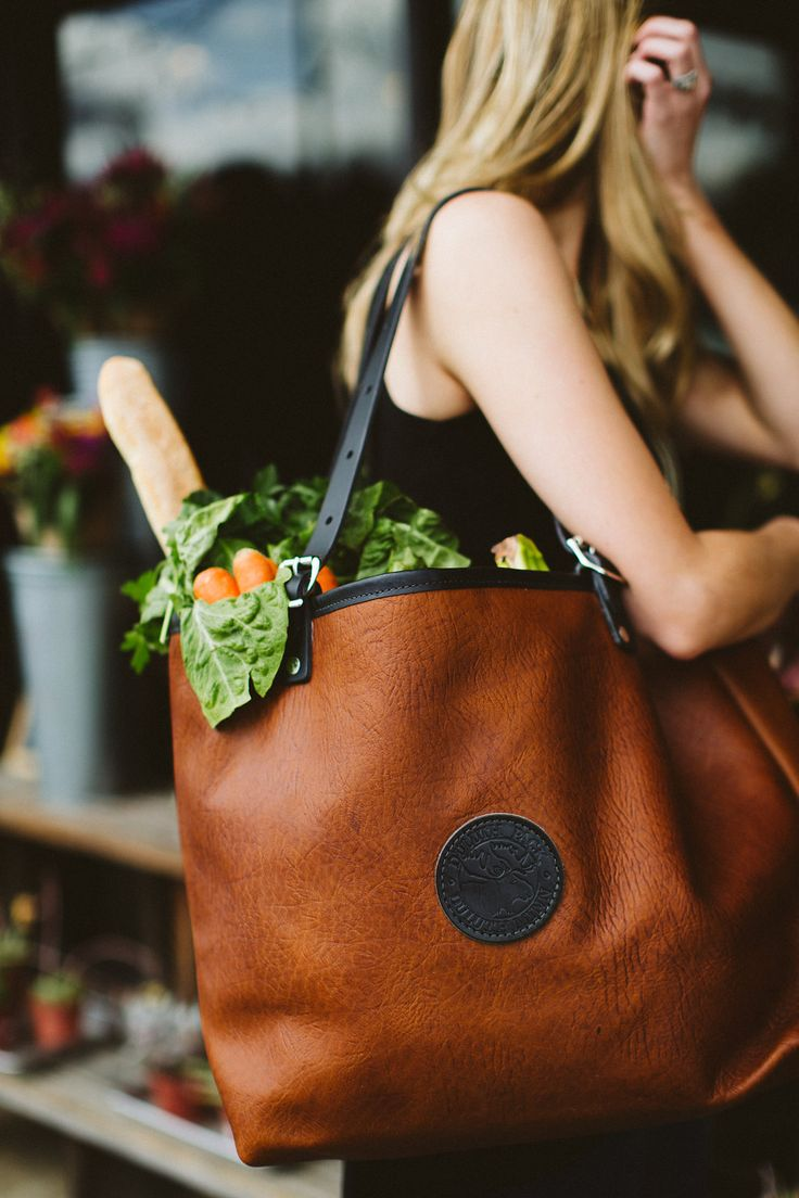 www.duluthpack.com | Duluth Pack Market Tote in Bison Leather