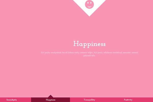 transition website layout design fullscreen