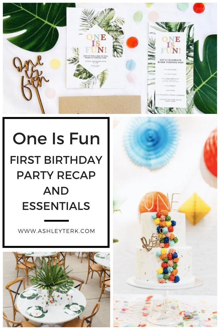 One Is Fun Birthday Party Essentials First Birthday Parties Fun Birthday Party Birthday Party Essentials