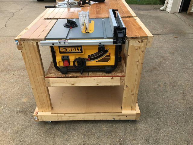 I Built A Mobile Workbench In 2020 Mobile Workbench