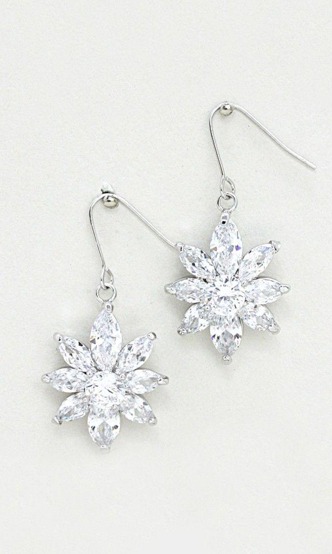 Julia CZ Earrings in Silver