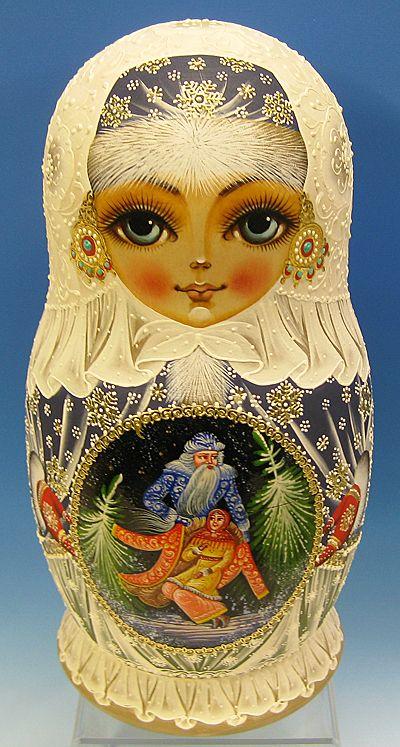Sadko by Churkina  Christmas Matryoshka Christmas Matrioshka russian christmas nesting doll christmas babushka doll stacking doll