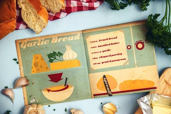 Desain Buku Resep Masakan - The Illustrative Cookbook oleh Dianka Adrianita