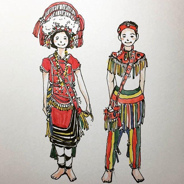 小時候挺可愛的(自己說)  #原住民族日 #阿美族 #橘枳 #繪日記 #ngaayho #vscocam#urbansketch #urbansketchers #moleskine #sketchbook #sketch #diary #drawing #art #painting #linedrawing #watercolor #black #sketchoftheday #taiwan #amis
