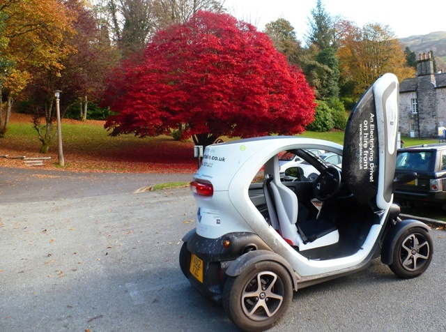 Twizy the electric car in Ambleside, Lake District