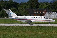 Air Hamburg Cessna 525B CitationJet CJ3 D-CAST aircraft, parked at Germany Lubeck (Blankesee) Airport. 09/05/2016.