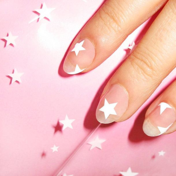 Nail accessories: stars, nail art, nail stickers, july 4th, negative space nail art - Wheretoget