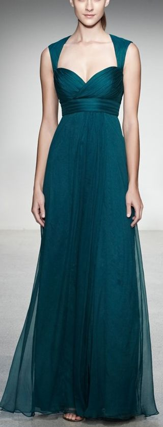 Gorgeous teal gown by Amsale