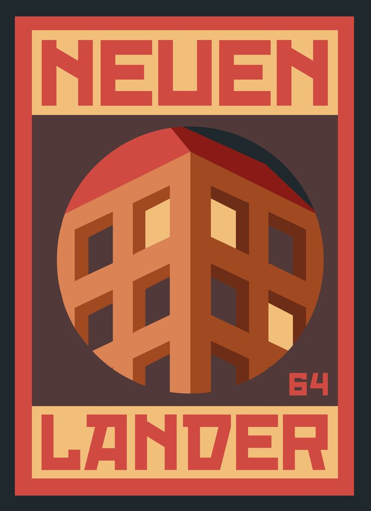 """""""NEUENLANDER 002"""" poster series, dedicated to the place, Neuenlanderstrasse 64, where I'm living during my Bremen stay. #graphicdesign #illustration"""