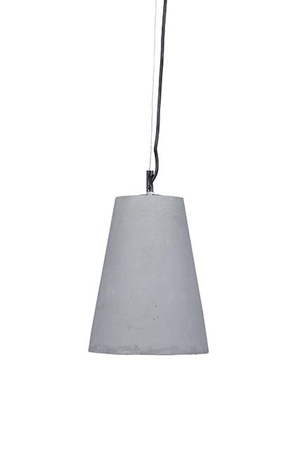 Ollie Concrete Cone Pendant in Grey Concrete #globewest #lighting #concrete #style #contemporary