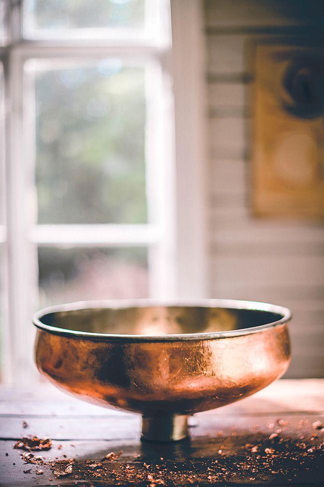 DIY copper sink