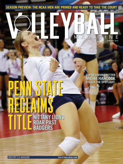 Volleyball Magazine February 2014 cover: Micha Hancock