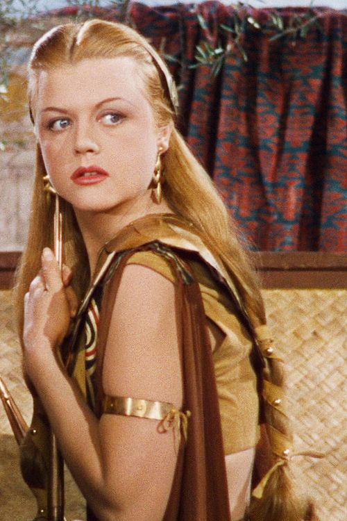 Samson and Delilah 1949 Angela Lansbury ~ Though cast as Hedy Lamarr's older sister, Angela Lansbury was actually 10 years younger than her co-star. (IMDB)