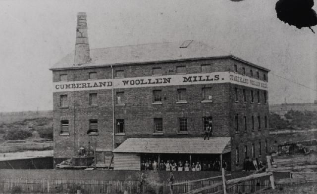 Cumberland Flour Mill, later to become Cumberland Woollen Mills. Was located at Parramatta, NSW, Australia