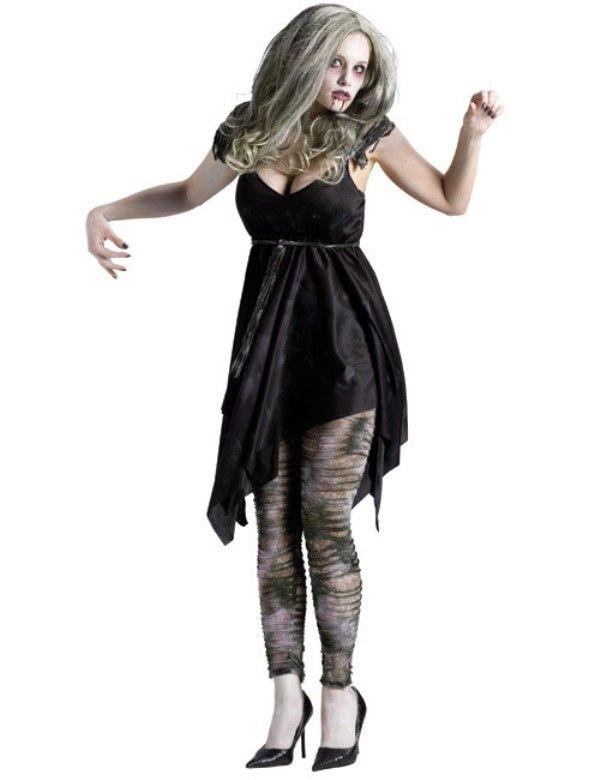 Black dress in halloween night