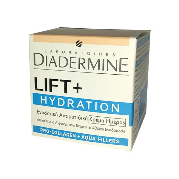 Diadermine Lift+ Hydration Ενυδατική Αντιρυτιδική Κρέμα Ημέρας. Αποκτήστε τα 50ml από το aromania.gr μόνο με 15,00€! #aromania #Diadermine