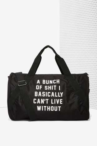 Danielle Guizio Important Sh*t Duffel Bag | Shop Accessories at Nasty Gal