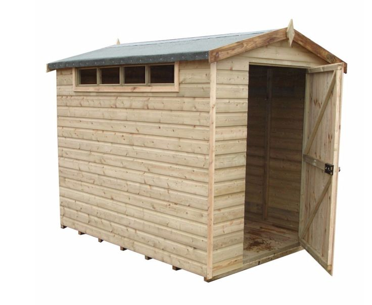 Shire 10x10 Security Apex Professional Shiplap / Pine Log Timber Shed