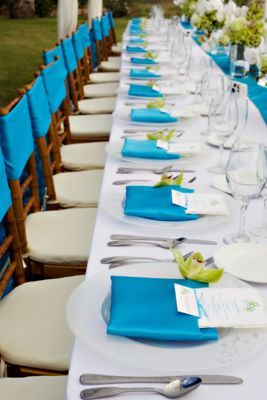 idée déco table mariage turquoise blanc pointe anis carnet d'inspiration mariage mademoiselle cereza