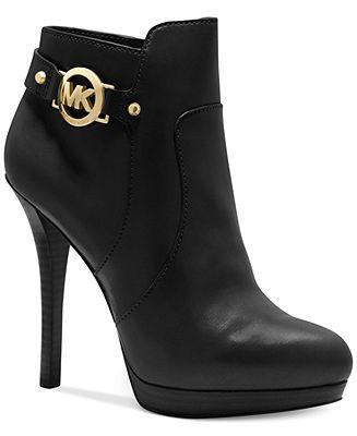 MICHAEL Michael Kors Wyatt Platform Booties - Booties - Shoes - Macy's