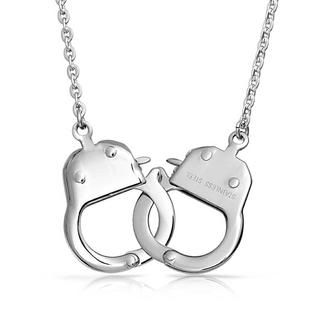 Bling jewelry Steel Handcuff Necklace Fifty Shades of Grey Inspired 22in