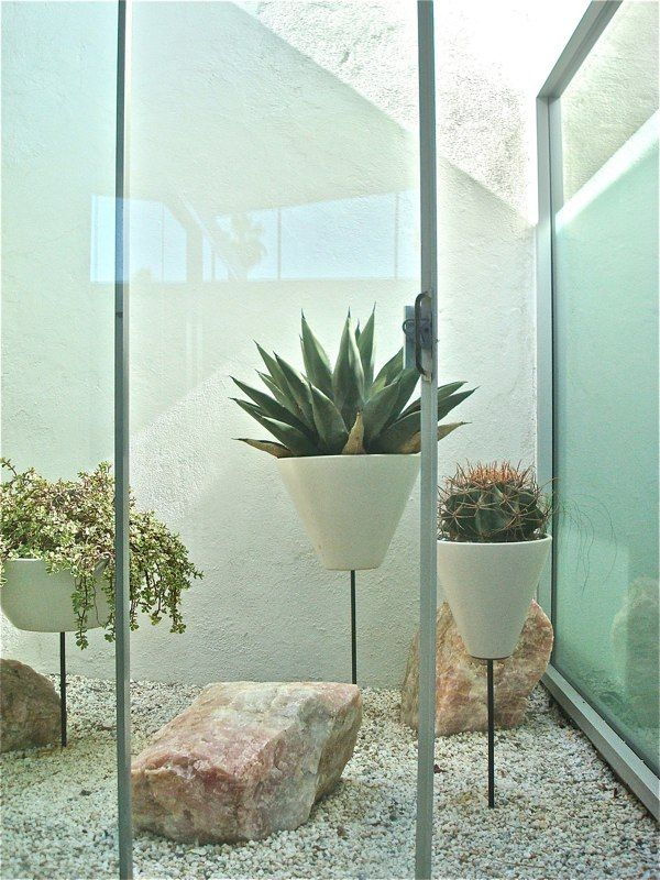 Might Find These Floating Cactus Pots In A Modern Arizona Home