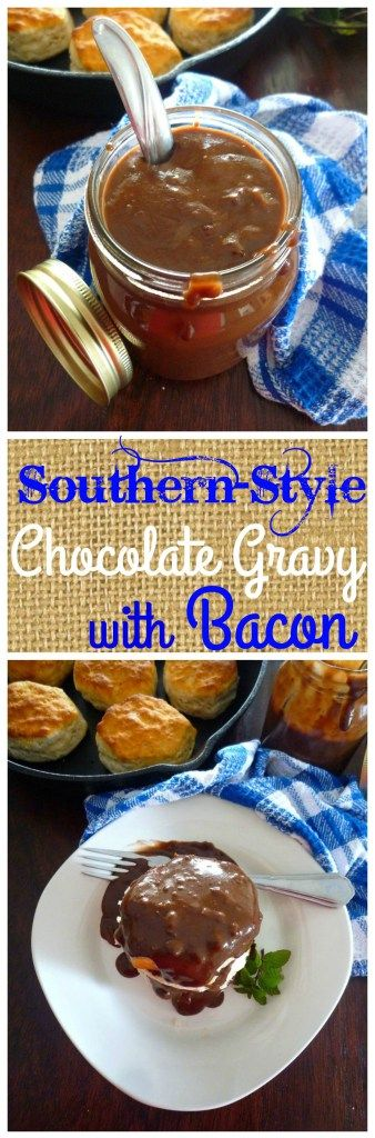 Southern Chocolate Gravy with Bacon is a decadent delicious gravy made from simple budget friendly ingredients such as bacon drippings or butter, all-purpose flour, cocoa powder, sugar, milk, a pinch of salt, and smoky crumbled bacon to drive your taste buds over the edge.