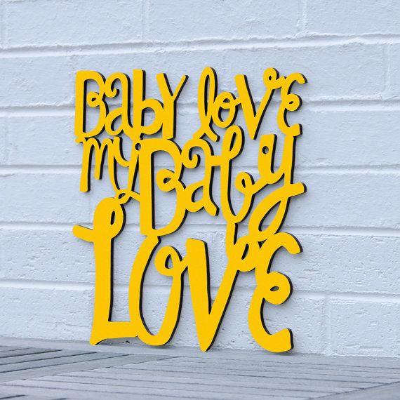 Baby Love my Baby Love Supremes Diana Ross nursery by spunkyfluff, Spunky Fluff
